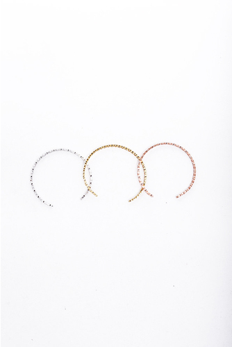 Love&peace Breclet Set 3 Silv/guld/rose