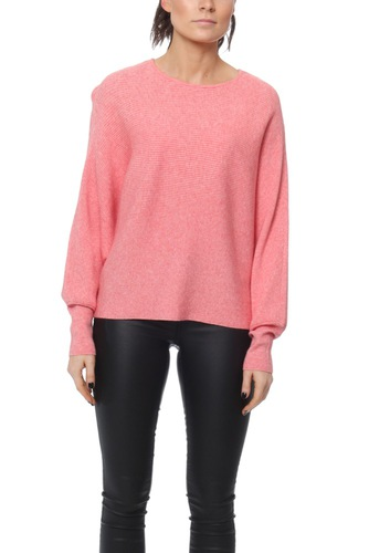 Vila VILEASTA L/S KNIT TOP SPICED CORAL