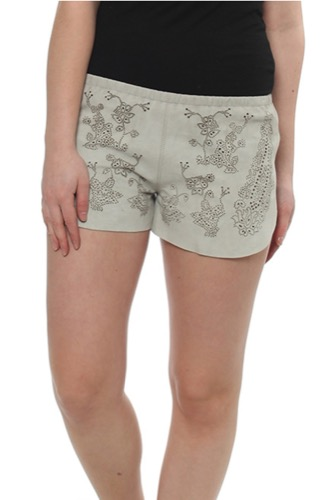 LACE CUT SHORTS BEIGE