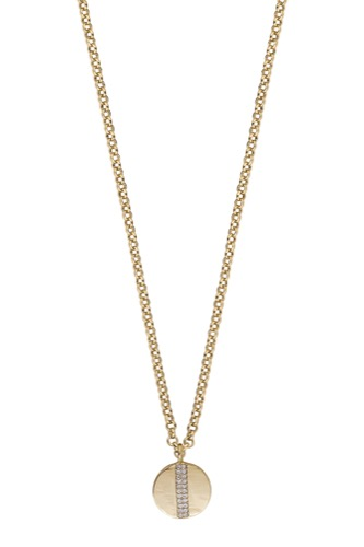 Snö of Sweden ALICIA PENDANT NECK 45 GOLD/CLEAR
