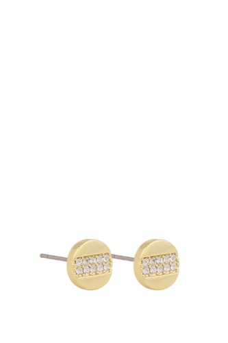 Snö of Sweden Alicia Small Coin Ear Gold/clear