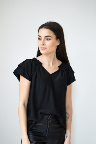 CO'COUTURE Sunrise Top Black
