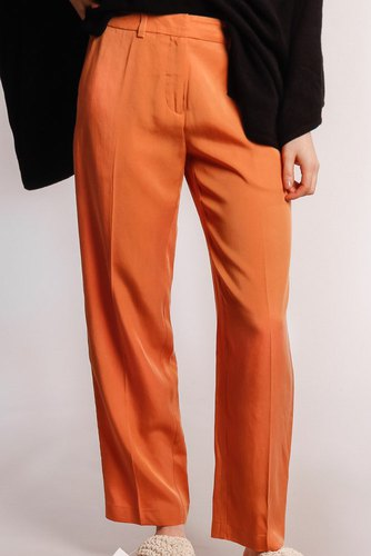 Selected Femme Slfemilo Porta Cropped Pants Caramel