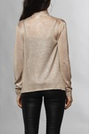 Vila Vianta Knit Scarf L/s Light Gold