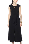 Vila Vimelis Cropped Jumpsuit Black