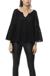Odd Molly Side Kick L/s Blouse Almost Black