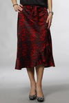 CO'COUTURE Red Animal Sateen Skirt Rio Red