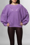 Vila Viview Knit Ballon L/s Hyacinth