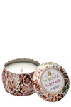 Voluspa Dec. Tin Candle 25tim Macaron