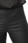 Vila Vicommit Coated Plain Leg Black