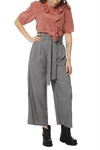 Vila Vibetti Hw Cropped Pant Medium Grey Mel