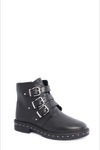 Steve Madden Matika Biker Boot Black Leather